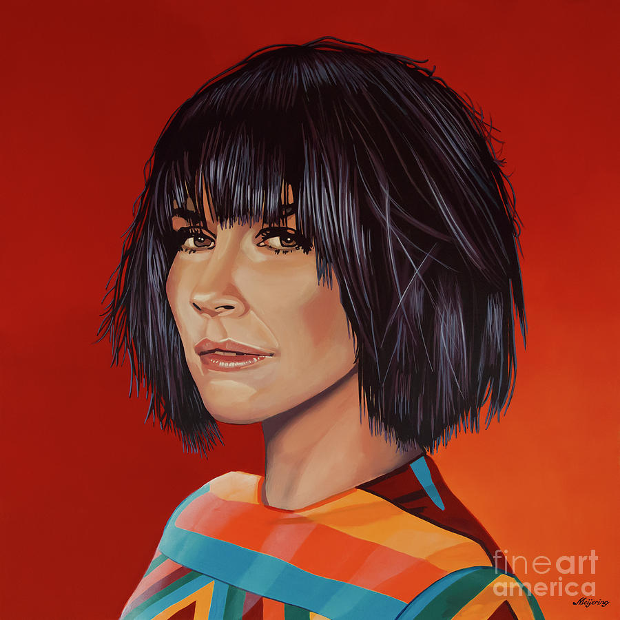 Evangeline Lilly Painting by Paul Meijering