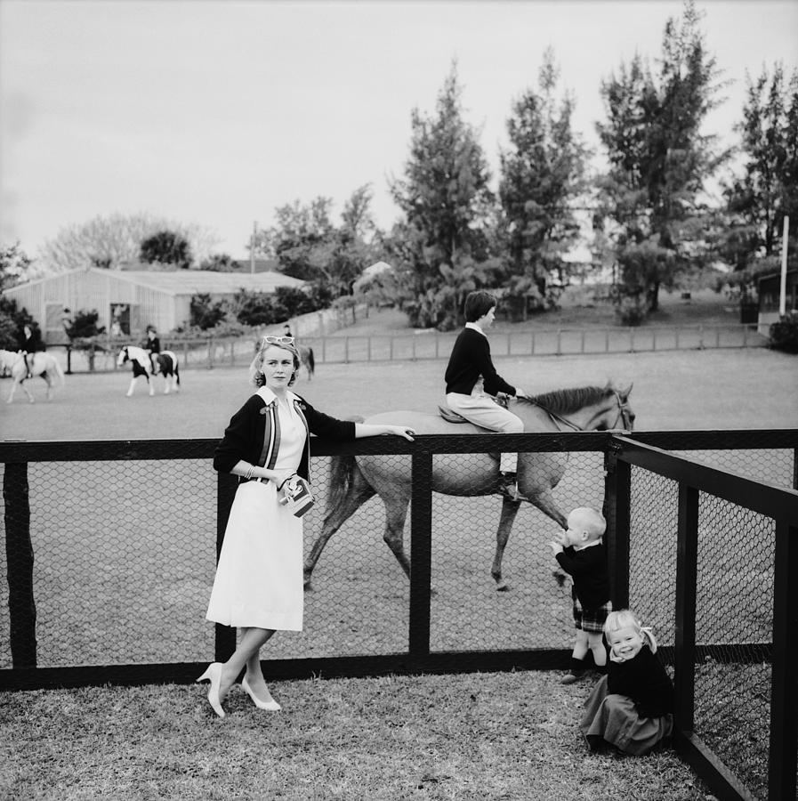 Eve At The Pony Club Photograph by Slim Aarons