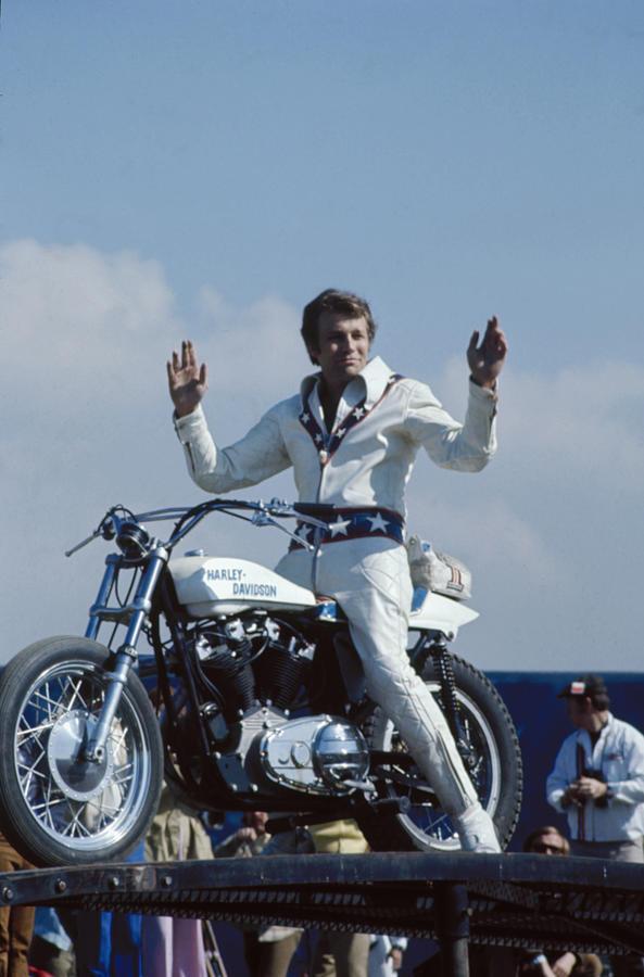 Evel Knievel Photograph by Ralph Crane