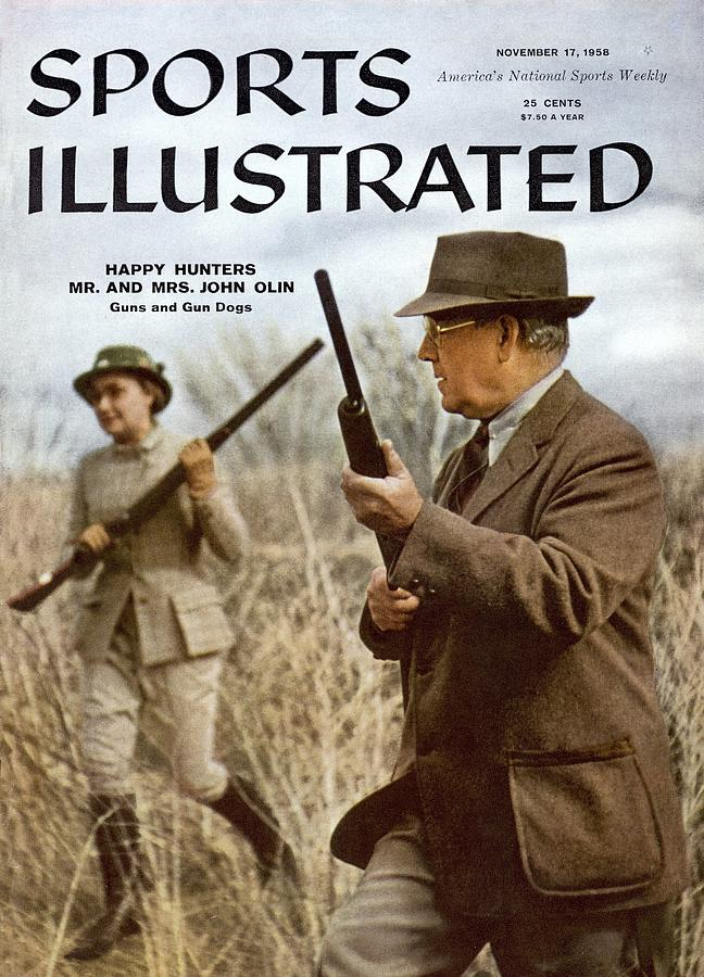 Evelyn And John Olin, Pheasant Hunting Sports Illustrated Cover Photograph by Sports Illustrated