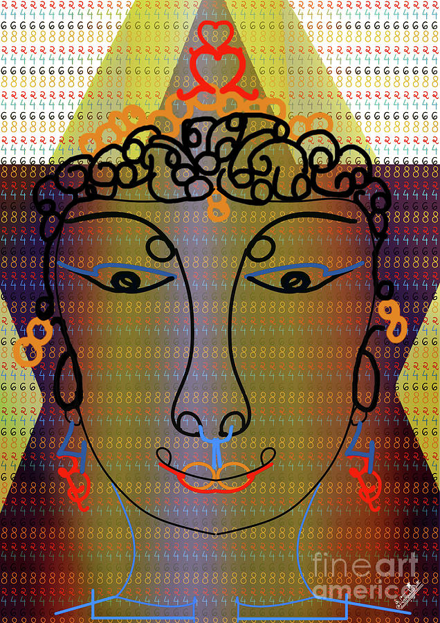 Even Numerical Face Digital Art