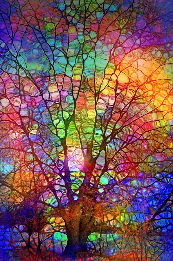 Tree Digital Art - Even the Tree is Glass on the Inside by Tara Turner