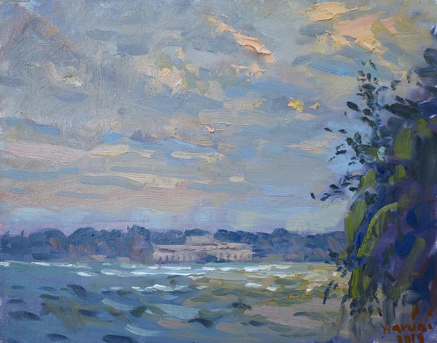 Evening at Niagara River by Ylli Haruni