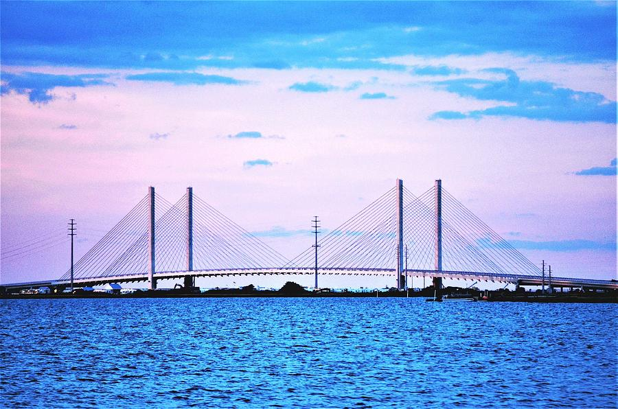 Evening at the Indian River Inlet Bridge by Kim Bemis