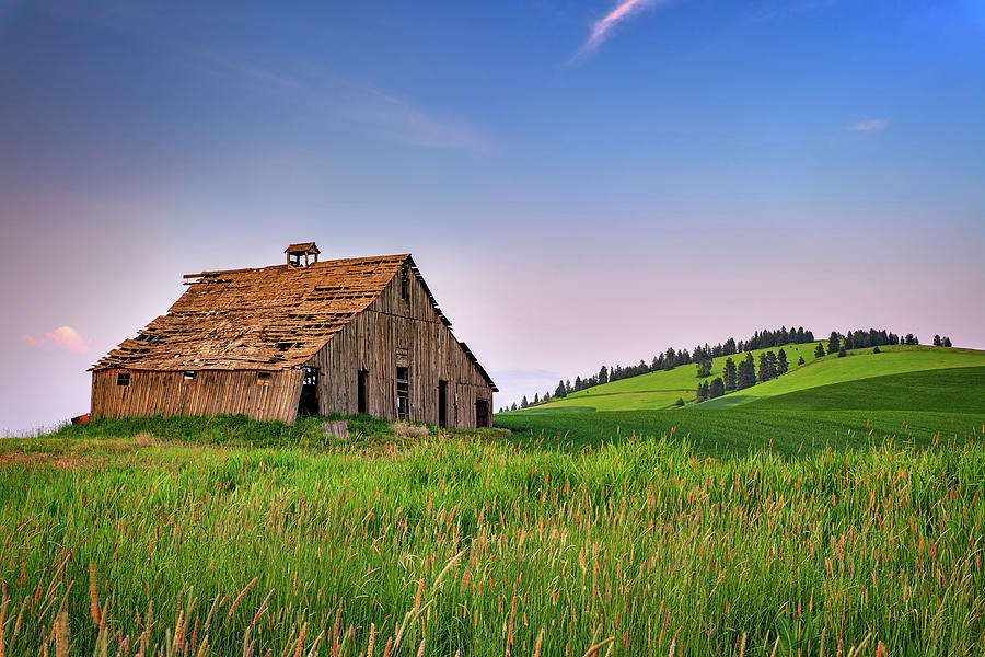 Evening at the Old Barn by Rick Berk