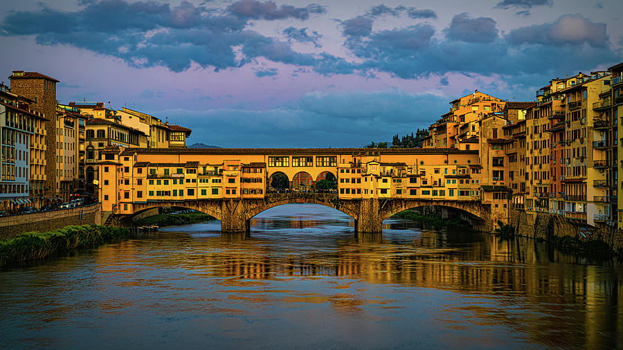 Evening At The Ponte Vecchio by Chris Lord
