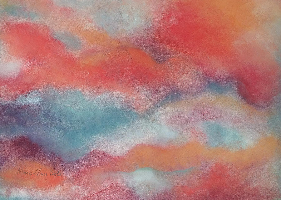 Clouds Pastel - Evening Clouds by Marie-Claire Dole