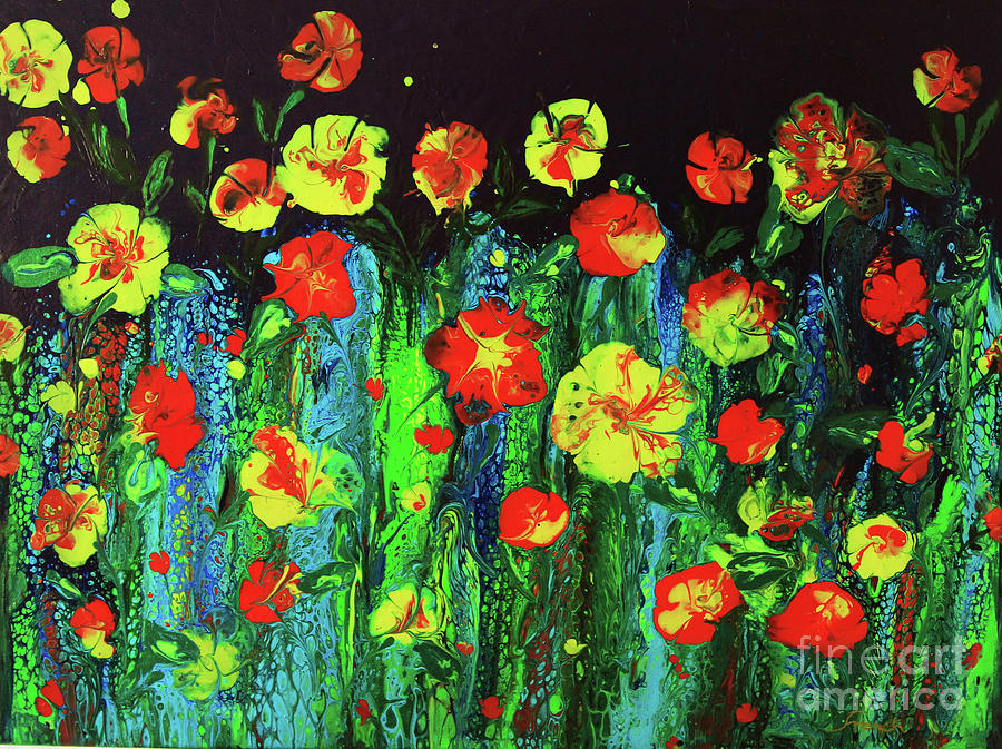 Evening Flower Garden by Jeanette French