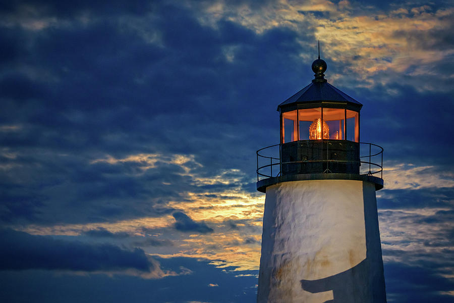 Evening Glow at Pemaquid Point by Rick Berk