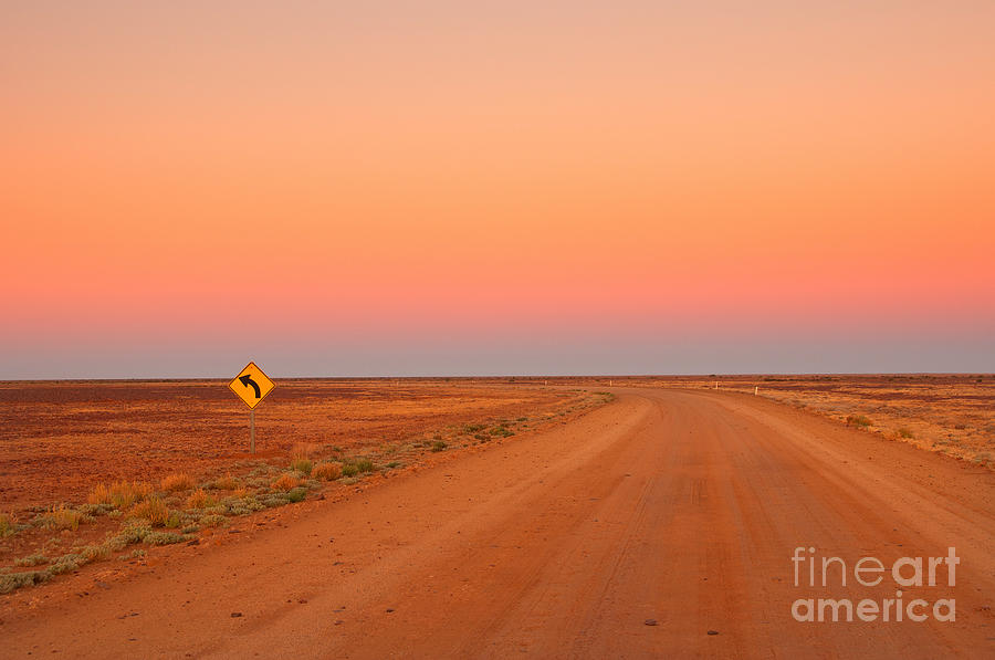 Country Photograph - Evening In The Australian Outback, Dirt by Australiancamera