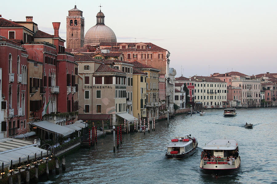 Evening In Venice Along Grand Canal Photograph by Jasmin Lee