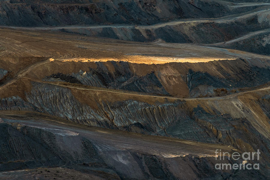 Evening Light in an Open Pit Mine by Lisa Manifold