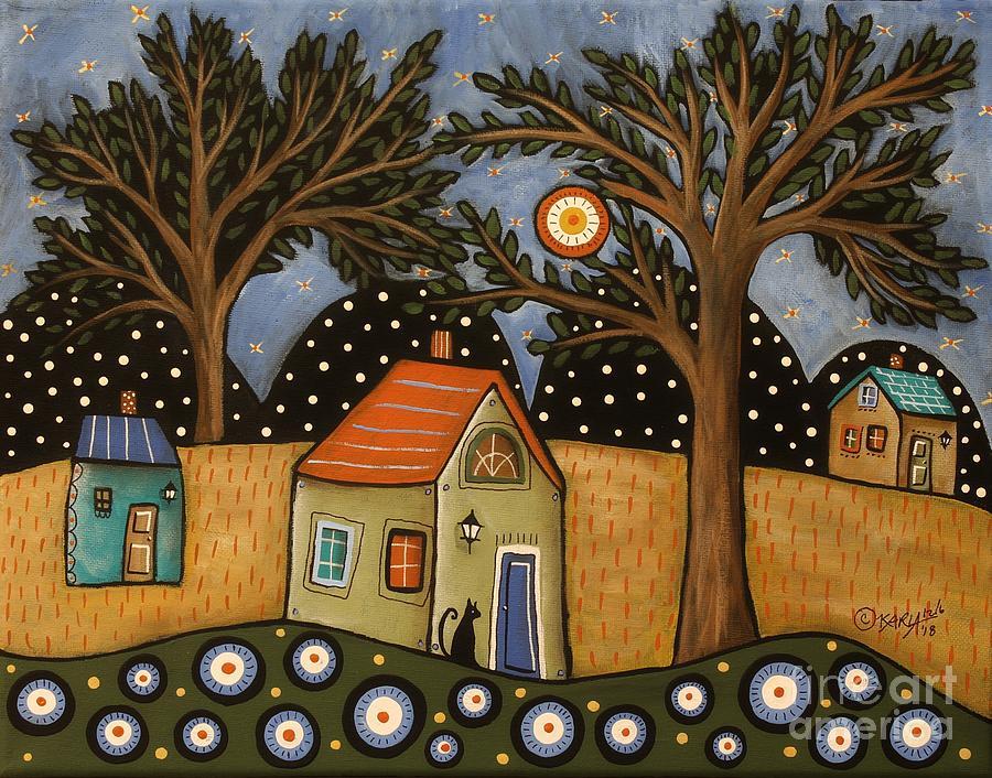 Landscape Painting - Evening Light by Karla Gerard