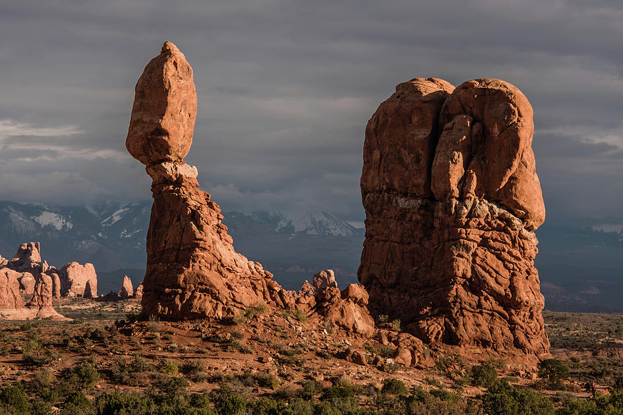 Evening Light on Balanced Rock by William Christiansen