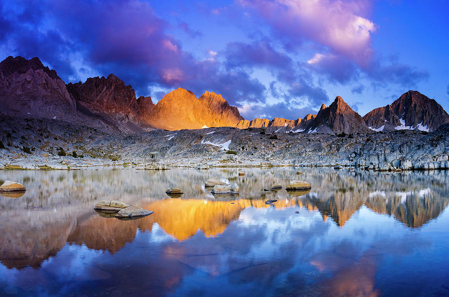 Alpine Photograph - Evening Light On The Palisades In Dusy by Russ Bishop