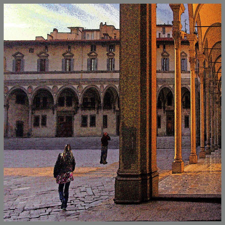 Evening Light- Piazza Santissima Annunziata by Guy Ciarcia
