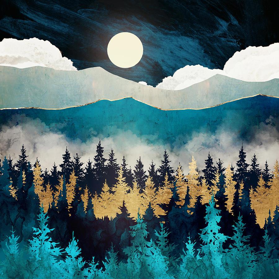 Mist Digital Art - Evening Mist by Spacefrog Designs