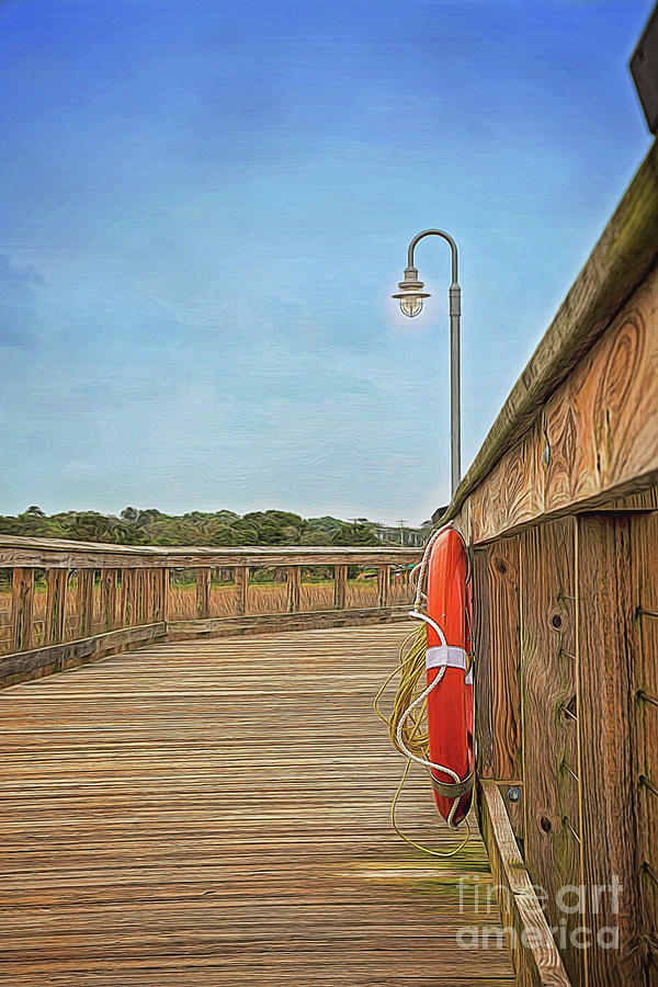 Evening On Shem Creek Boardwalk by Sharon McConnell