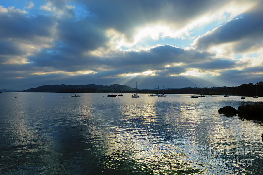 Evening Photograph - Evening On Windermere In Lake District National Park by Louise Heusinkveld
