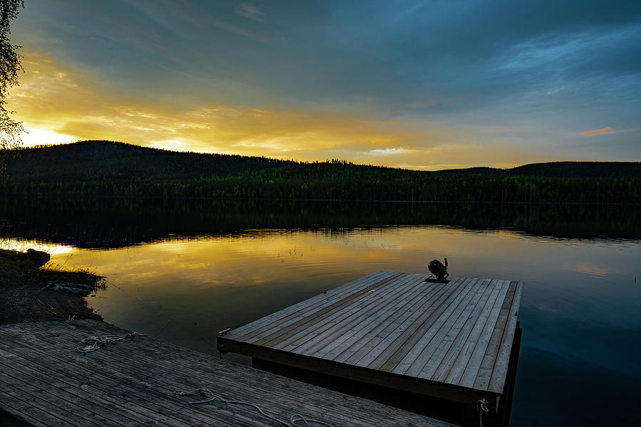 Sweden Photograph - Evening Stillness by Dan Vidal