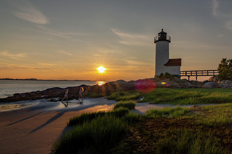 Evening Stroll at the Lighthouse by Tim Kirchoff