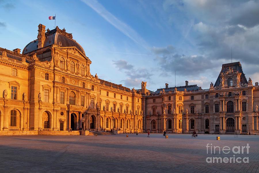 Evening Sunlight over Musee du Louvre by Brian Jannsen