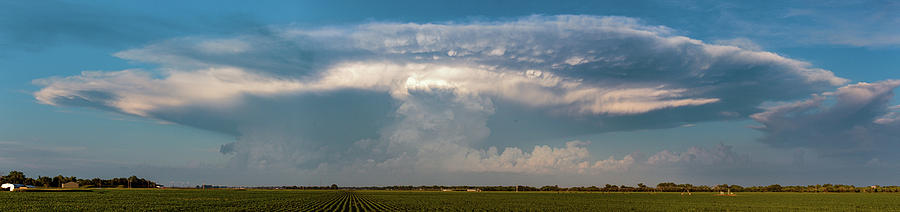 Cloudscape Photograph - Evening Supercell And Lightning 012 by Dale Kaminski