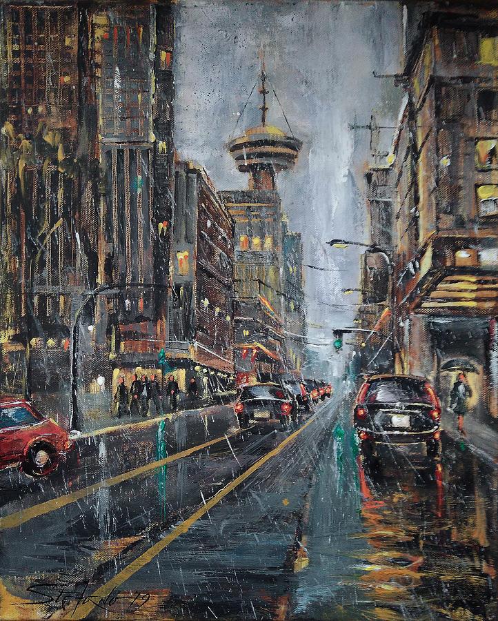 Evening Painting - Evening Traffic II by Stefano Popovski