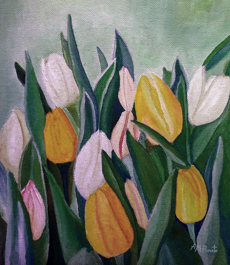 Evening Tulips by Angeles M Pomata