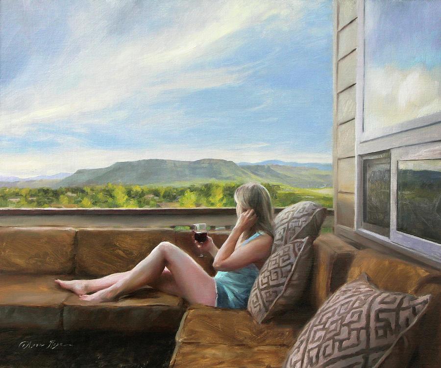 Views Painting - Evening Views by Anna Rose Bain