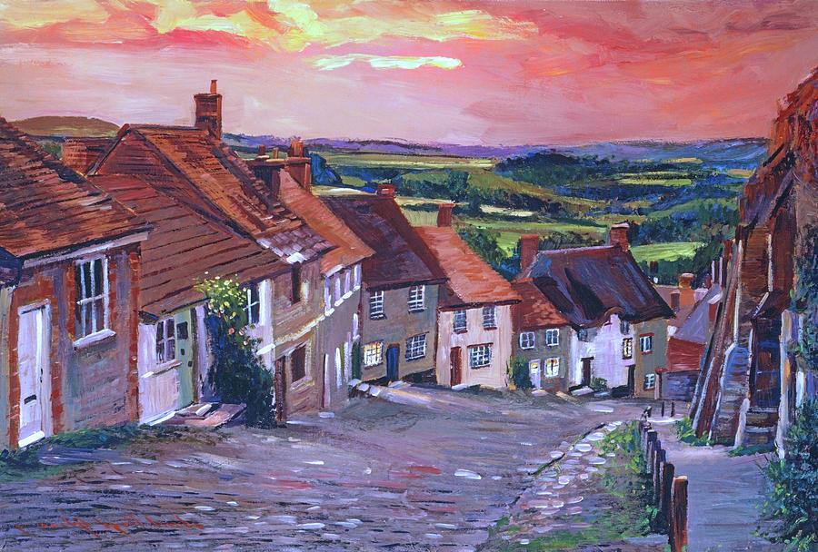 Evening Village Stroll Painting