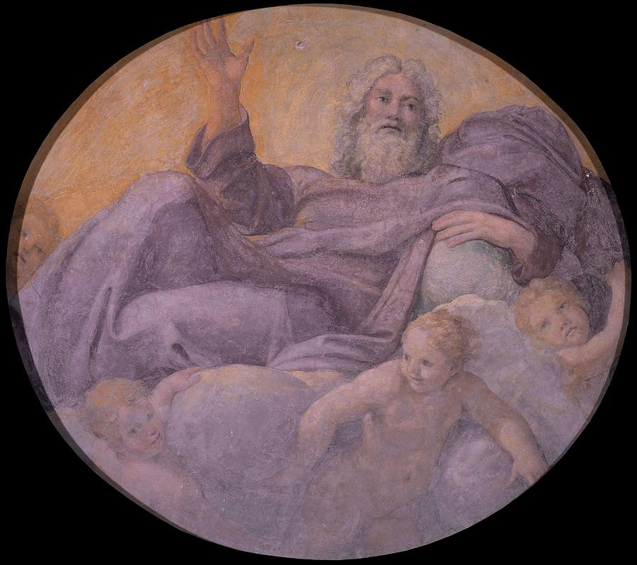 Everlasting Father Painting - Everlasting Father  by Annibale Carracci