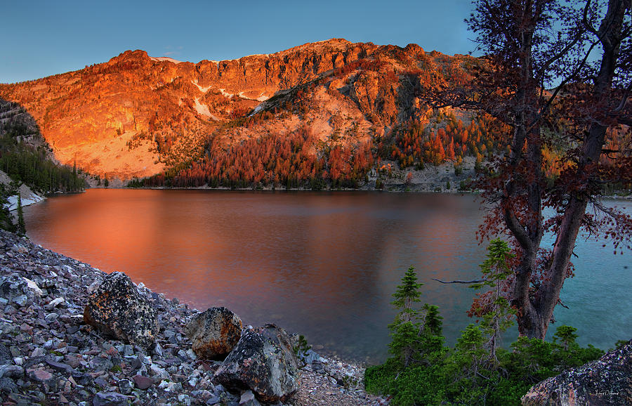 Mountains Photograph - Everson Lake by Leland D Howard