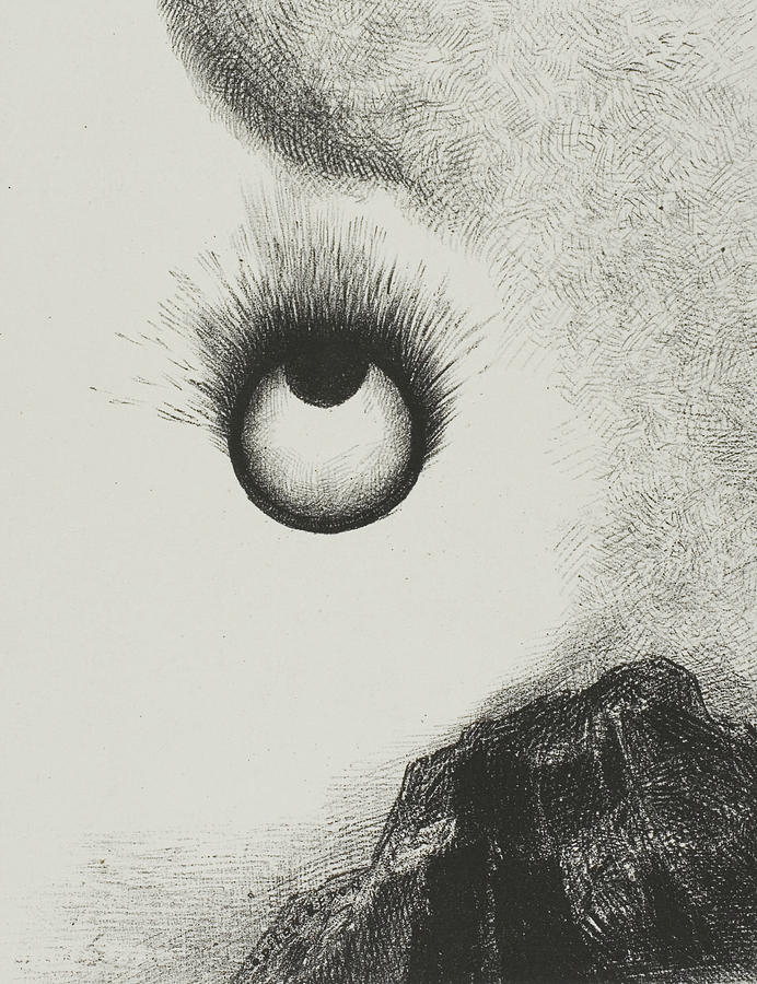 French Painters Relief - Everywhere Eyeballs Are Aflame by Odilon Redon