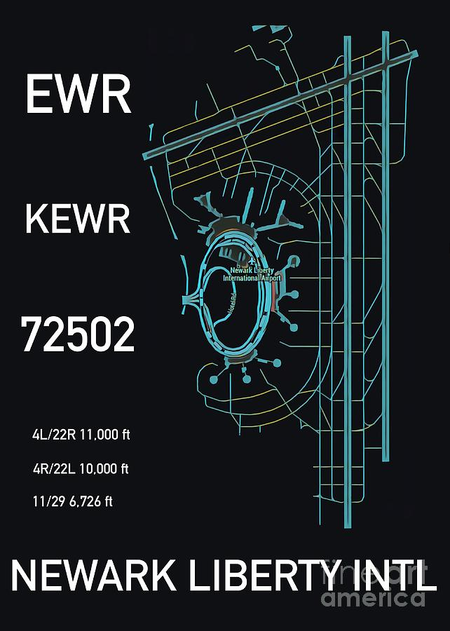 EWR Newark Liberty Airport Black Edition by HELGE