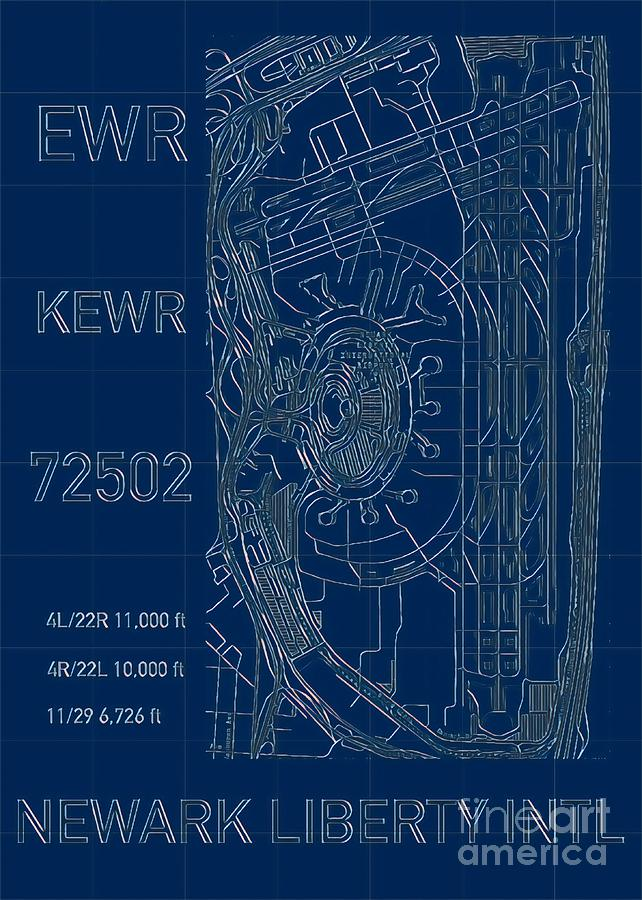 EWR Newark Liberty Intl Blueprint by HELGE