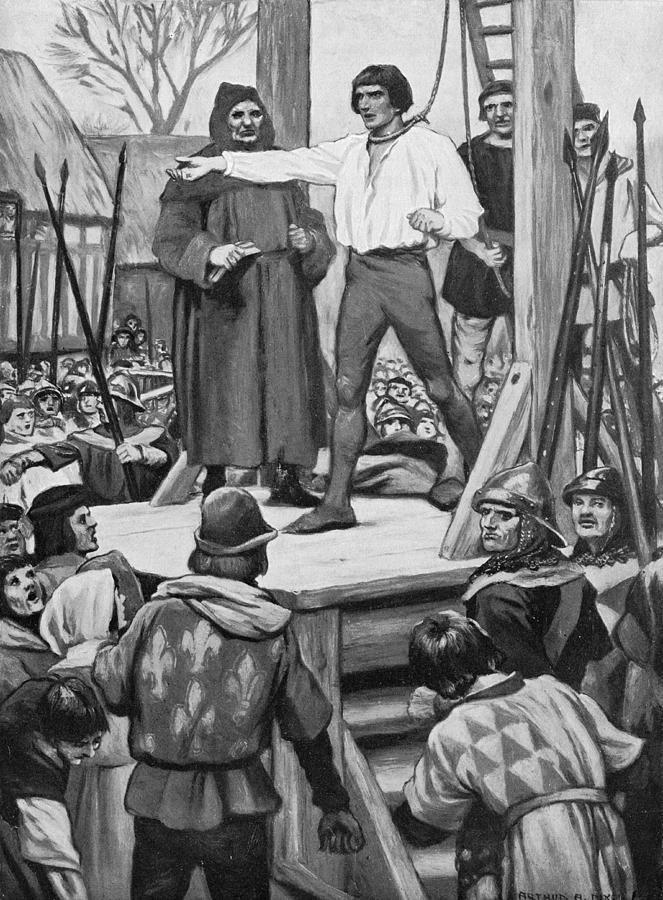 Execution Of Warbeck Photograph by Hulton Archive