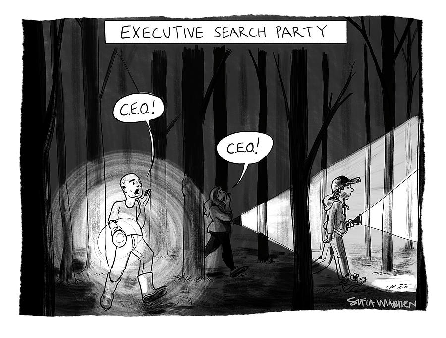 Executive Search Party Drawing by Sofia Warren
