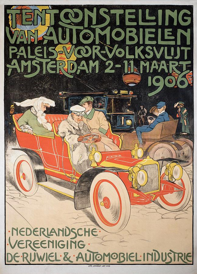 Exhibition of automobiles, Den Haag 1906 by unknown