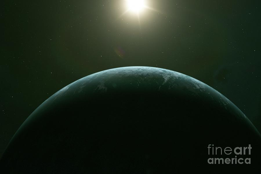 Exoplanet Photograph - Exoplanet At Dawn by Hypersphere/science Photo Library