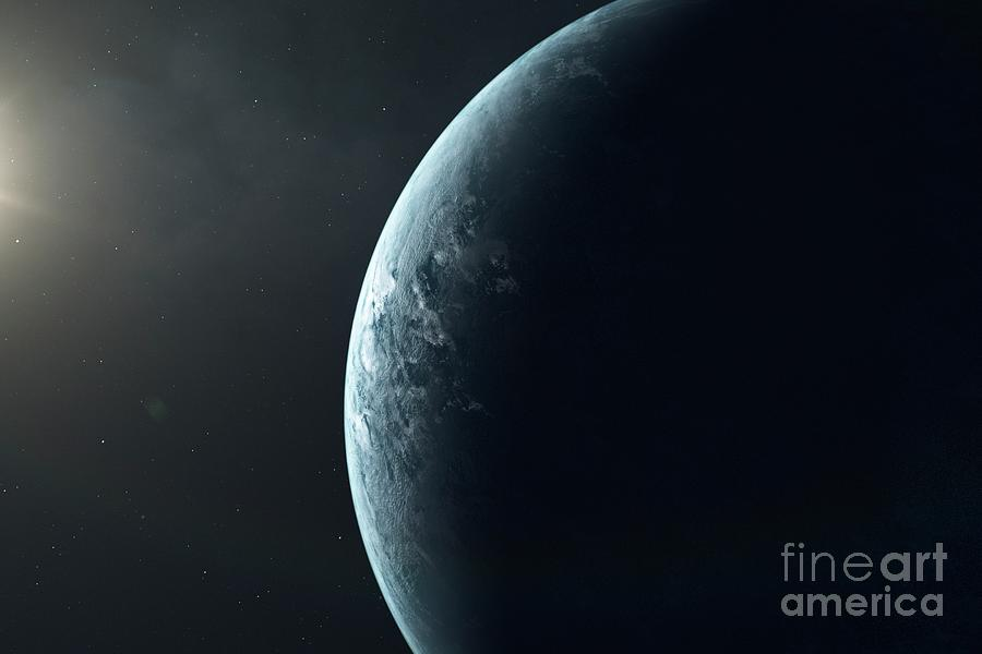 Exoplanet Photograph - Exoplanet by Hypersphere/science Photo Library