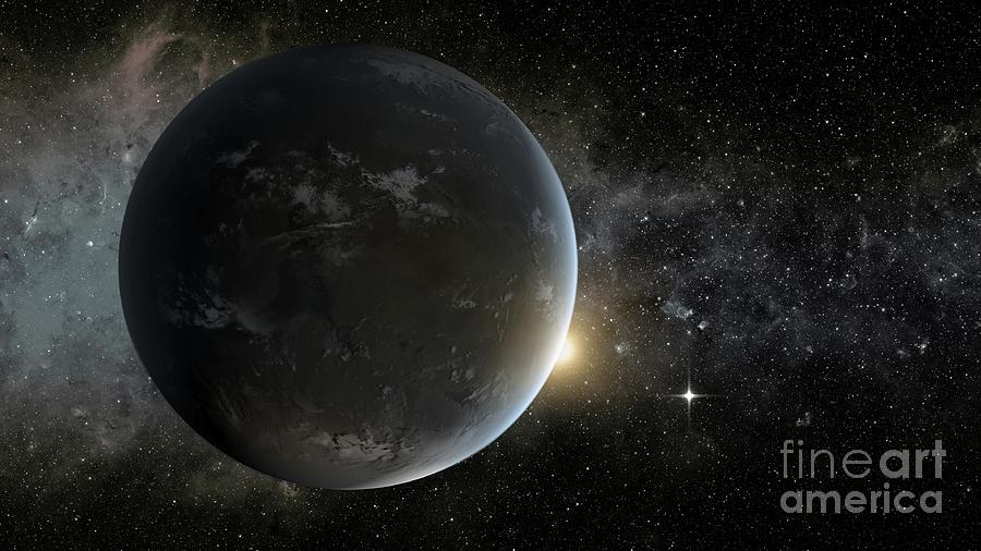 Astronomy Photograph - Exoplanet Kepler 62f by Nasa/science Photo Library