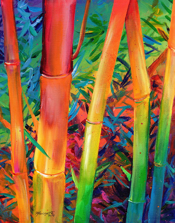 Exotic Rainbow Bamboo by Marionette Taboniar