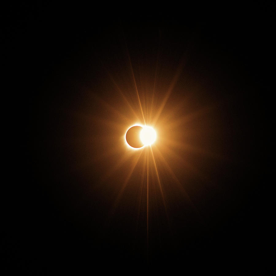 Eclipse Photograph - Exploding Ring Of Fire by Mike Berenson