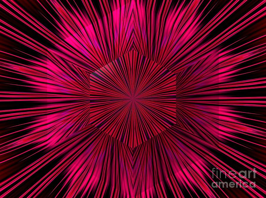 Explosion of a Star Fractal Abstract by Rose Santuci-Sofranko