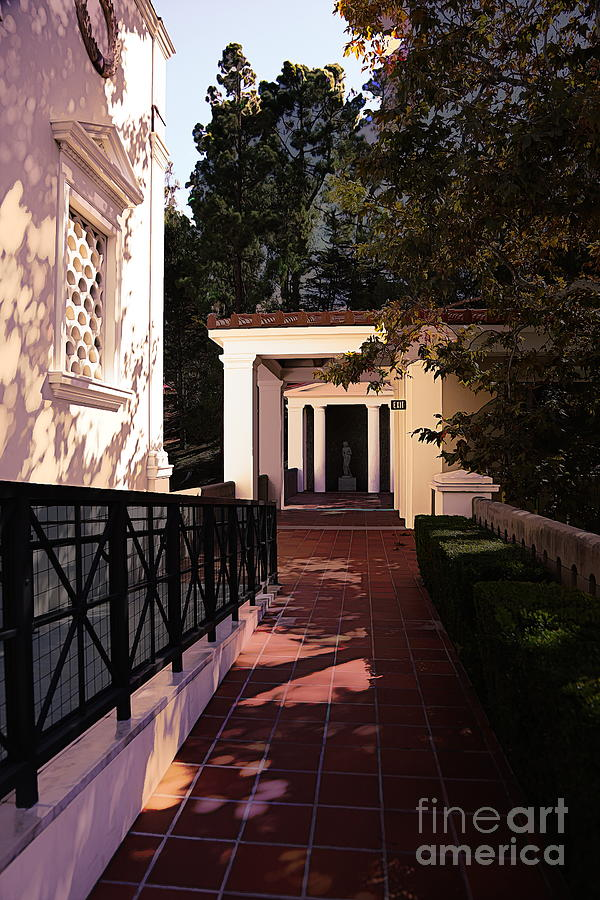 Getty Photograph - Exterior Amazing Getty Villa  by Chuck Kuhn