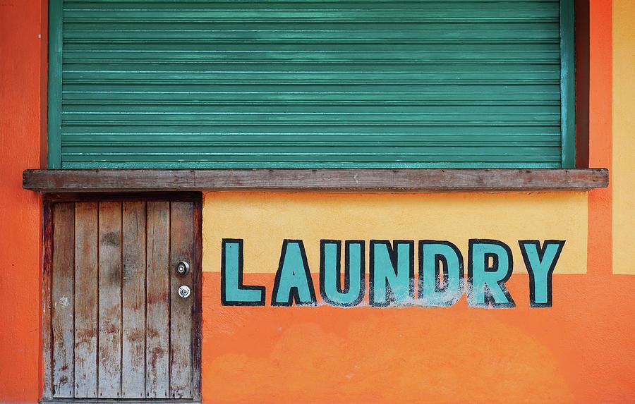 Exterior Of Laundry Shop, Akumal, Mexico Photograph by Dallas Stribley
