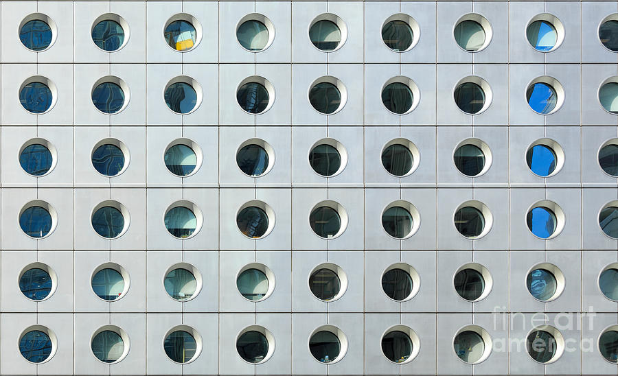 Steel Photograph - Exterior Of Office Building by Leungchopan