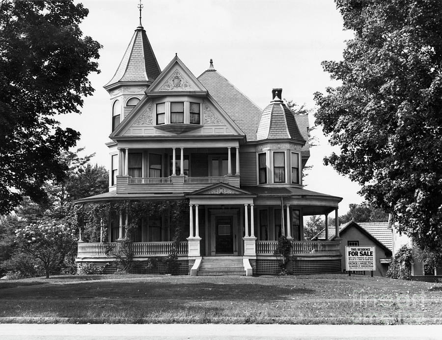 Exterior Of Victorian American Home Photograph by Bettmann