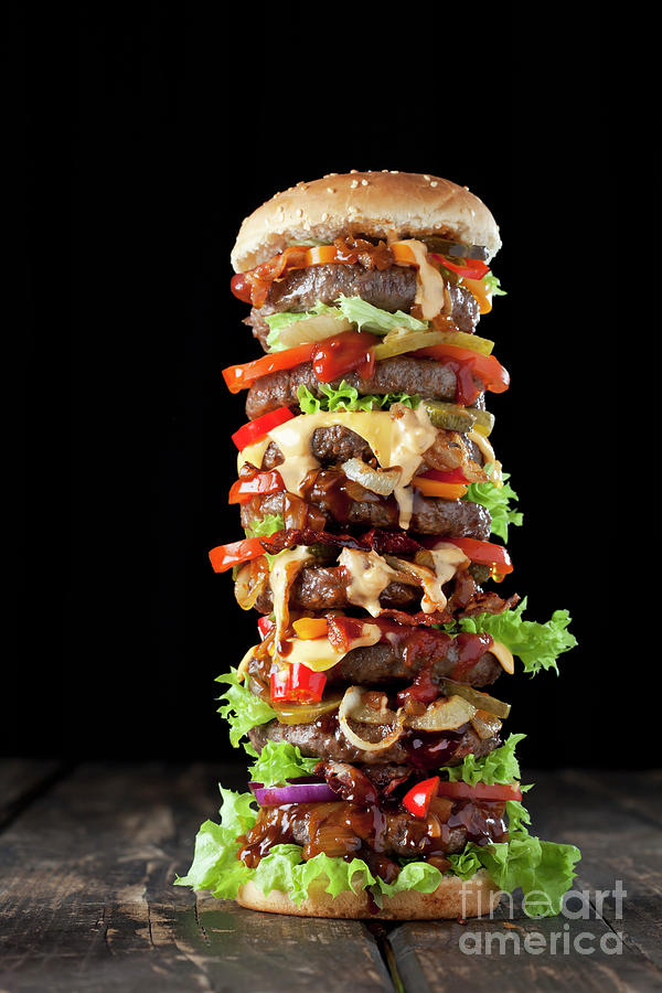 Extra Large Hamburger Photograph by Westend61